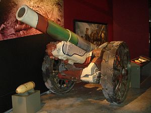 BL 8-inch howitzer Mk VI – VIII - Mk 8 in WWI camouflage paint at the Canadian War Museum, Ottawa