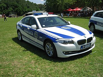 Ministry of Internal Affairs (Serbia) - Image: BMW F10 Serbian Police