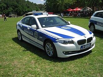 Law enforcement in Serbia - Image: BMW F10 Serbian Police