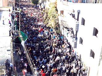 Timeline of the Syrian Civil War (January–April 2012) - Big demonstration in one of Homs districts
