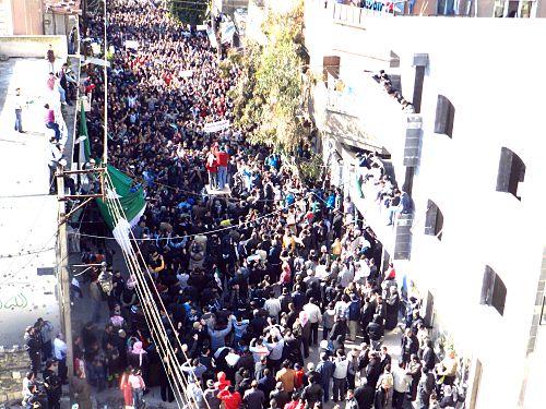 اعتراضات مردم منطقه حوله به کشتار حوله