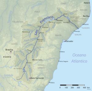 נהר סאו פרנסיסקו ויובליו העיקריים