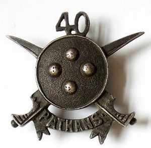 40th Pathans - Image: Badge of 40th Pathans
