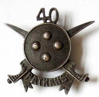 40th Pathans - Image: Badge of 40th Pathans