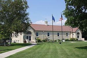 National Register of Historic Places listings in Door County, Wisconsin - Image: Baileys Harbor Town Hall 2009WIS57