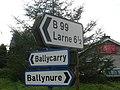 Ballynure Signage - geograph.org.uk - 568463.jpg