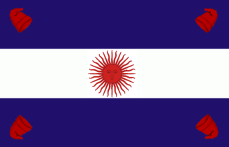 Federal Pact - Flag of Argentina used in the provinces of the Pacto Federal around 1840.
