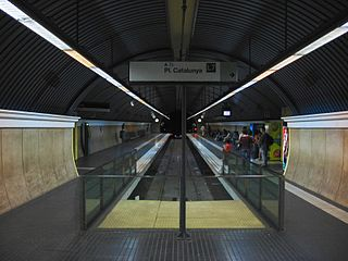 metro station in Barcelona, Spain