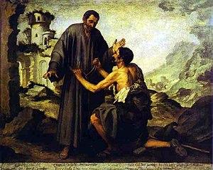 "Juniper (friar) - ""Brother Juniper and the Beggar"" by Bartolomé Esteban Murillo (1645-1646)"