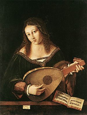 Bartolomeo Veneto - Image: Bartolomeo Veneto Woman playing a lute