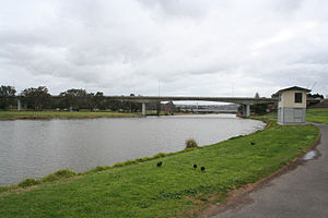 Belmont, Victoria - James Harrison bridge over the River Barwon