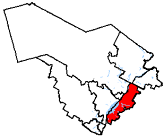 Bécancour—Nicolet—Saurel - Bas-Richelieu—Nicolet—Bécancour in relation to other Quebec federal electoral districts