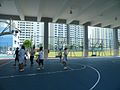 Basketball court on the first floor of the Indoor Sports Hall, Nan Hua High School, Singapore - 20131227.jpg