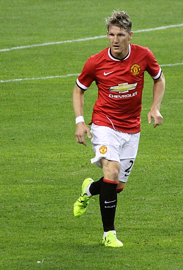 Schweinsteiger playing for Manchester United in 2015 Bastian Schweinsteiger - July 2015 (cropped).jpg
