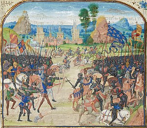 Arnaud de Cervole - Battle of poitiers(1356) in Froissart Chronicle.