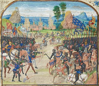 Battle of Poitiers - Battle of Poitiers (miniature of Froissart)