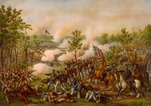 Battle of Atlanta - Battle of Atlanta, by Kurz and Allison (1888).