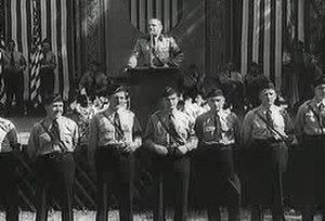 "Fritz Julius Kuhn - Kuhn speaking at a ""Bund""-camp-rally"