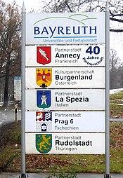 Bayreuths-Partnerstädte