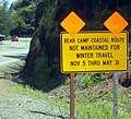 Bear camp road warning sign P4368c.jpeg