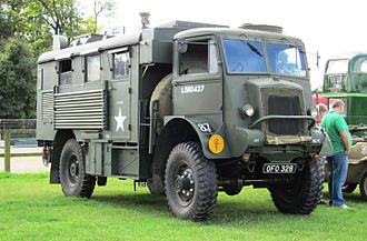 Bedford Dunstable plant - Preserved 1944 Bedford QL truck, at a rally in Hertfortshire, 2011