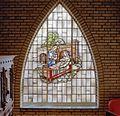 Begane grond, glas-in-lood raam met religieuze voorstelling - Rosmalen - 20332323 - RCE.jpg