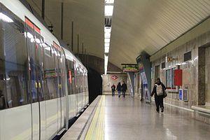Line 10 (Madrid Metro) - Image: Begoña station