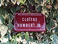 Belleville (Rhône) - Cloître Humbert III (plaque).jpg