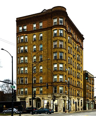National Register of Historic Places listings in South Side Chicago - Image: Belmonte Flats