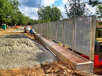 BeltLine - BeltLine Eastside Trail under construction in the Old Fourth Ward, May 2012.