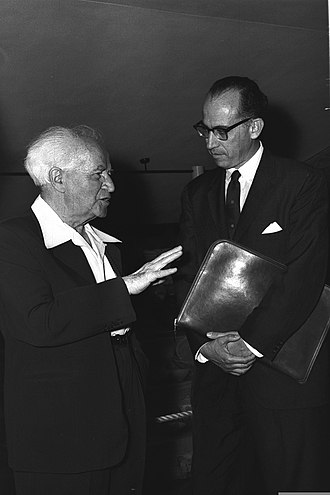Jonas Salk - With David Ben-Gurion in Jerusalem, 1959
