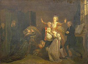 Charles Benazech - The last interview between Louis XVI and his family (1793)