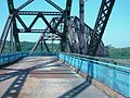 Bend in the deck of the Chain of Rocks Bridge in St. Louis, Missouri.JPG