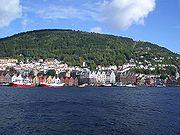 Stadtansicht von Bergen