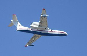 2007 Greek forest fires - A Beriev Be-200 operating in Athens.
