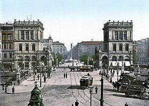 Mehringplatz - Belle-Alliance-Platz, about 1900