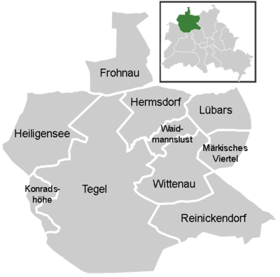 District map of Reinickendorf