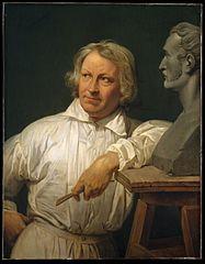 Bertel Thorvaldsen (1768–1844) with the Bust of Horace Vernet