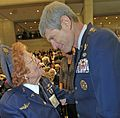 Betty Wall Strohfus talks with Air Force Chief of Staff Gen. Norton Schwartz at the Congressional Gold Medal ceremony at the Capitol, March 10, 2010 (cropped).JPG