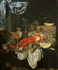 Large still life with lobster