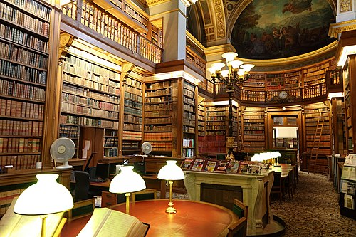 The Library of the Palais Bourbon in Paris Bibliotheque de l'Assemblee Nationale (Lunon).jpg