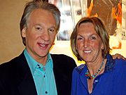 Maher and Ingrid Newkirk, founder of PETA. Maher is on the board of directors of the animal welfare activist group.