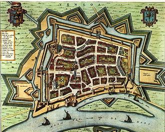 Siege of Venlo (1637) - Map of Venlo in 1652, by Joan Blaeu.