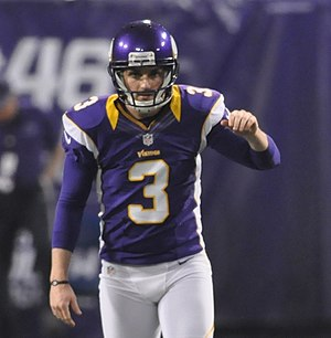Blair Walsh - Walsh prepares for a kickoff