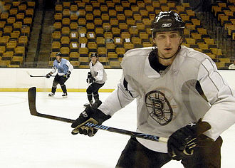 Blake Wheeler - Wheeler practicing with the Boston Bruins in November 2008. Wheeler signed an entry-level contract with the Bruins months earlier.