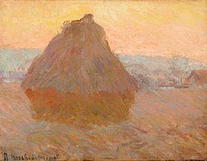 Blanche Hoschedé Monet - Blanche Hoschedé Monet, Grainstack or Haystack, 1889