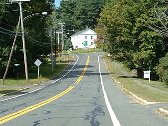 Massachusetts Route 23 - Looking westbound along Route 23 in Blandford