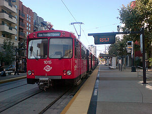 Blue Line in Downtown.JPG