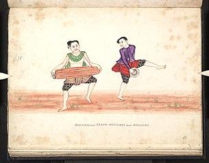 Burmese and Karen musicians and dancers (II)