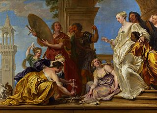 Achilles among the daughters of Lycomedes (detail).